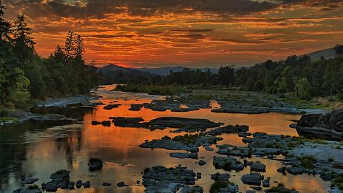 sunset oregon river douglascounty northumpqua gordoncottrell
