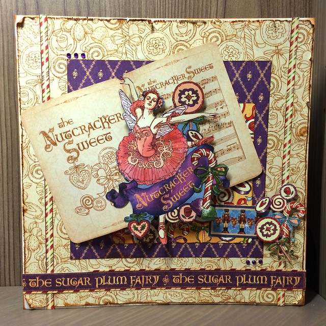 Christmas crafting - Graphic 45 Nutcracker Sweet card