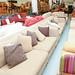 Large 3 seater oatmeal sofa