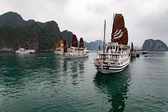This was the view from our the cabin on our boat floating in Halong Bay, Vietnam. Yes, it was cloudy the whole time, but it was spectacularly beautiful. • • • • • #travel #vietnam #ocean #artofvisuals #athomeintheworld #awesome_earthpix #awesome_photograp