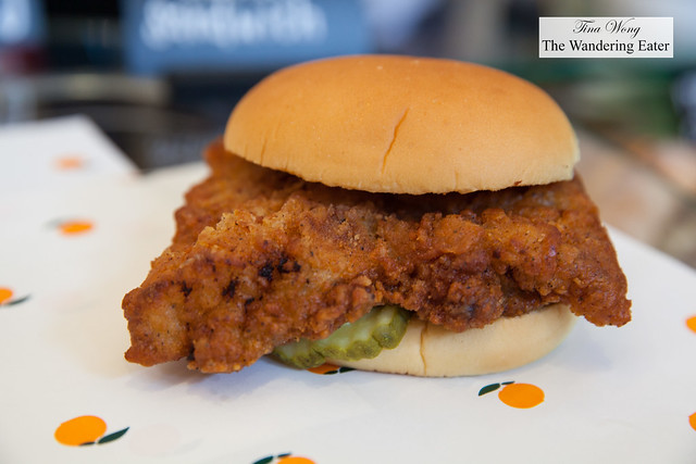 Fuku fried spicy chicken sandwich by Chef David Chang
