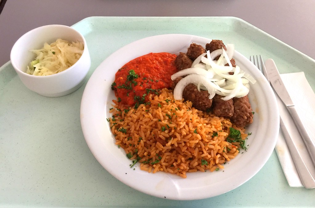Cevapcici With Fresh Onions Ajvar Tomato Rice Cevapci Flickr