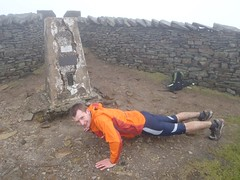 Greg starting the press-ups on Whernside Image