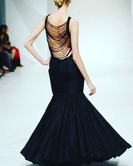 One is never overdressed or underdressed in a black gown !