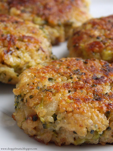 Cheesy Quinoa and Broccoli Patties from Shop Girl.