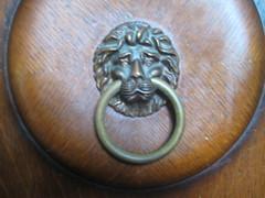 carving, metal, door knocker,