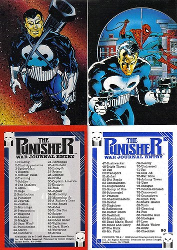 1992-Punisher War Journal Entry Checklist-Comic Images-01