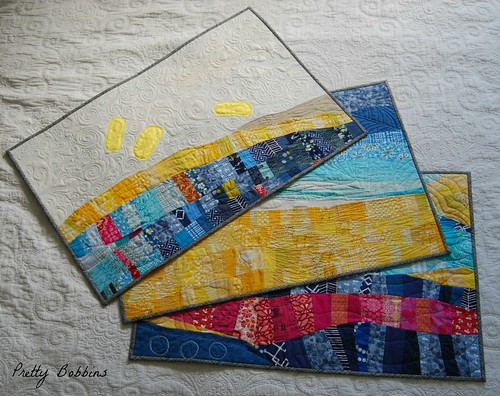 Set of three quilts
