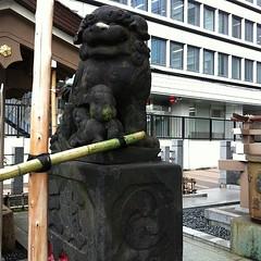 狛犬探訪 三田御穂鹿嶋神社 阿吽とも子連れ