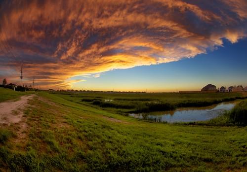 sunset clouds texas katy dusk bayou katytexas buffalobayou orangeclouds buffalobayoutexas