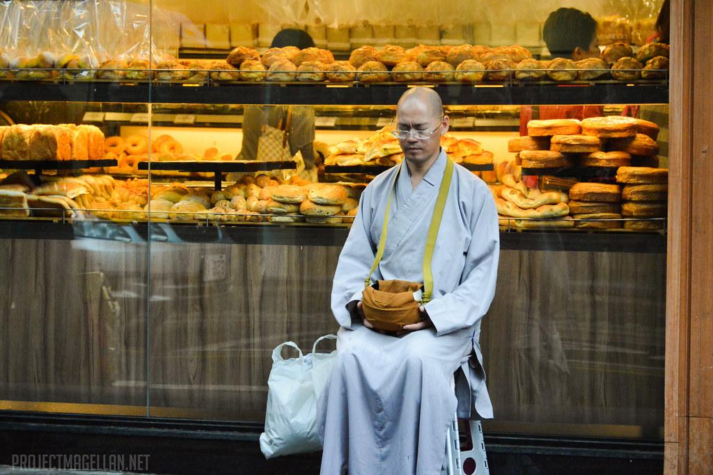 Monk, Taipei, Taiwan, Yongkang Street