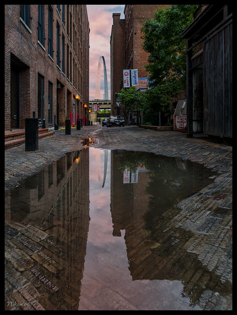 Morgan Street Alley and the Gateway Arch - No. 2