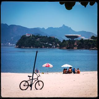 Obraz Praia de Icaraí. riodejaneiro niterói brésil br niemeyer
