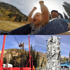 Good times up at @snowbird yesterday.  Terje had such a fun day! #backflip #rockclimbing #rollercoaster #alpineslide #minishred #holiday