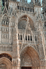 Facade of Rouen Cathedral