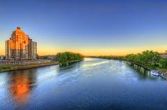 Hartford: Connecticut River at sunset