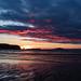 Sun setting on Sandwood Bay. by Sandy MacLennan