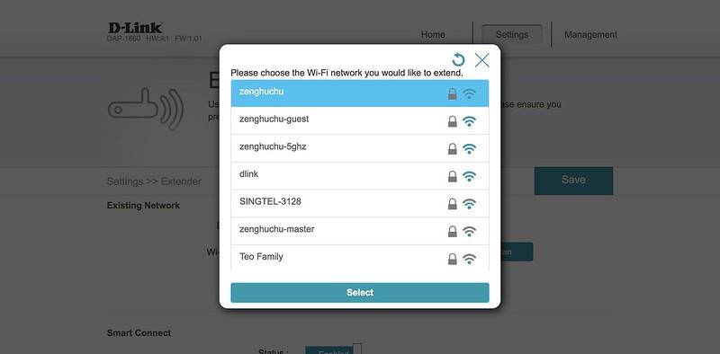 D-Link DAP-1860 - Admin - Wi-Fi Scan