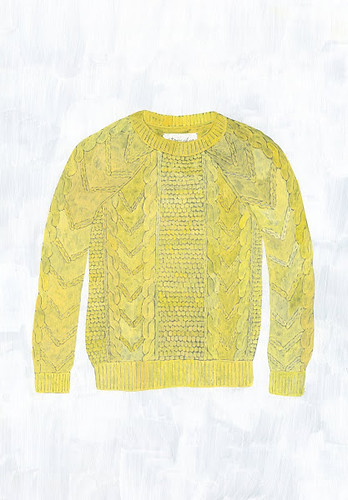 yellow cable knit_s
