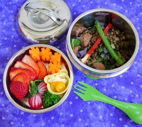 May the 4th Lentil Sausage Bento by sherimiya ♥