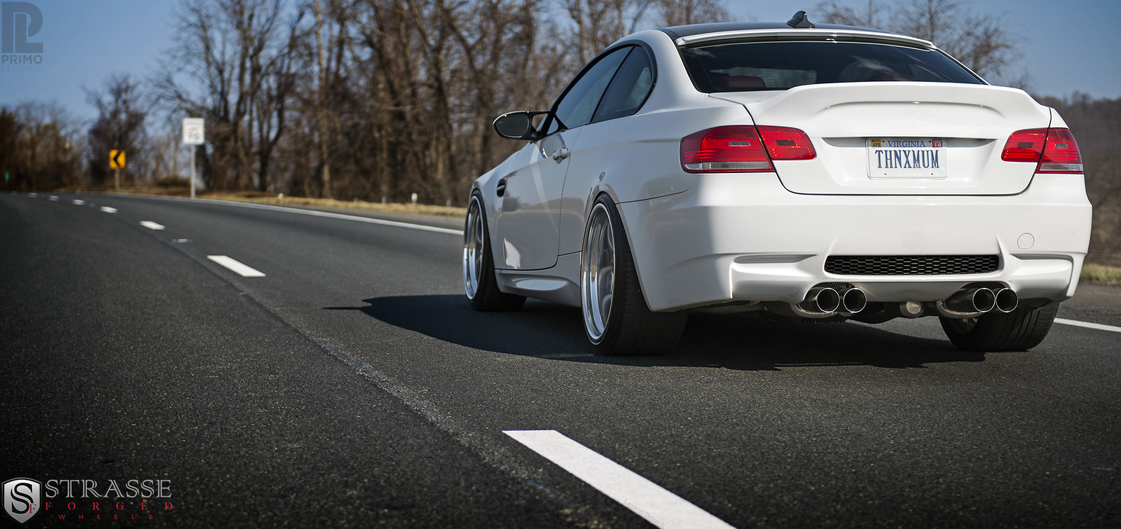 My E92 stanced on Strasse Forged Wheels aggressive fitment