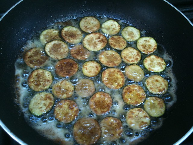 Five-spiced courgettes