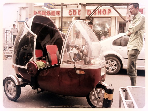 Hipster podcar in Beijing