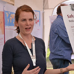 Kristina Roesel presents the Safe Food, Fair Food project at the Livestock and Fish Ethiopia value chain sharefair