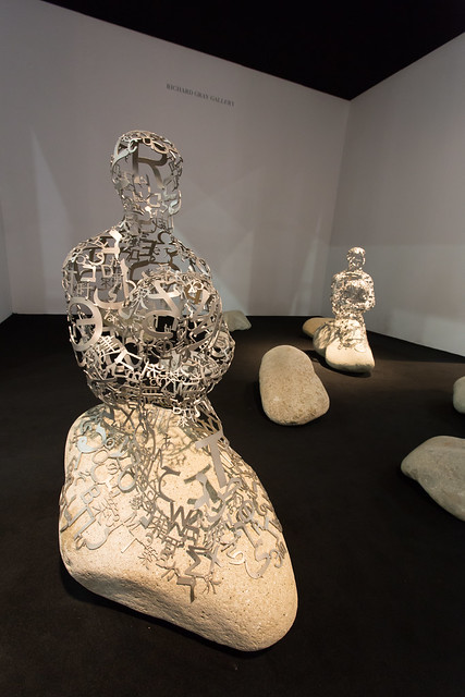 "Photo:""Installation by Jaume Plensa (b. 1955): Islands, 2012. (stainless steel and stone)"" / Richard Gray Gallery / Art Basel Hong Kong 2013 / SML.20130523.6D.13867 By See-ming Lee (SML)"