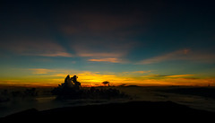 Sunrise at the Mount Rinjani summit, Lombok Indonesia