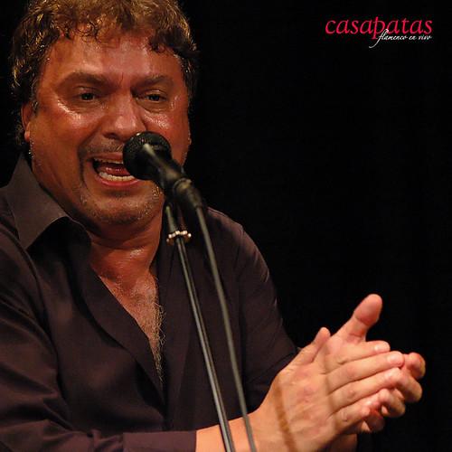 """Pedro Jiménez """"Perrete"""" al cante. Foto: Martín Guerrero"""