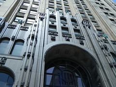 Fisher Building details above entrance