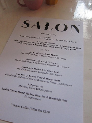 Menu @ Salon