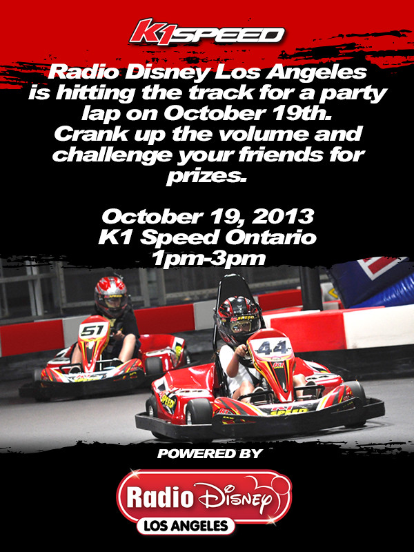 10274638015 ae0ea614d0 b Radio Disney Los Angeles at K1 Speed!