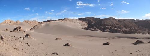 Le désert d'Atacama: el Valle de la Luna. Du sable et de la roche à perte de vue.