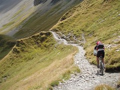 Greg descending towards Courmayeur Image