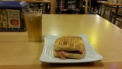 Ham and cheese ciabatta