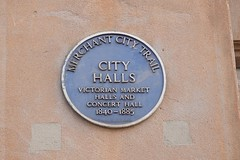 Photo of Glasgow City Halls brown plaque
