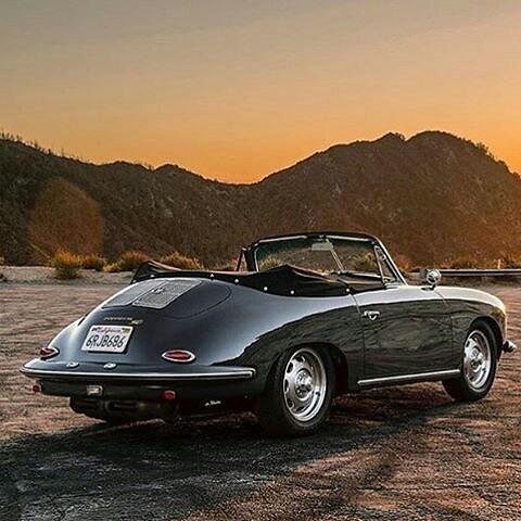 @Regrann_App from @classic_car_garage  -  Porsche 356 and the sunset