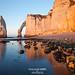 Sunset over the cliffs of Etretat by g u i l l a u m e