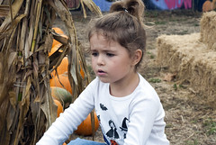 Lena at the Pumpkin Patch