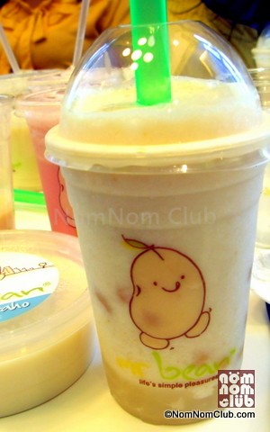Lychee Ice Soya (P90 R) with Lychee Pop Add-on (P20)