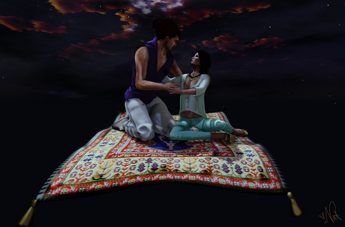 SL DisneyBound - ALADDIN & JASMINE ; THREE