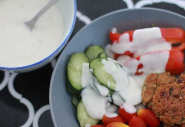 Baked-falafel-with-yogurt-dressing-by-Chic-n-Cheap-Living