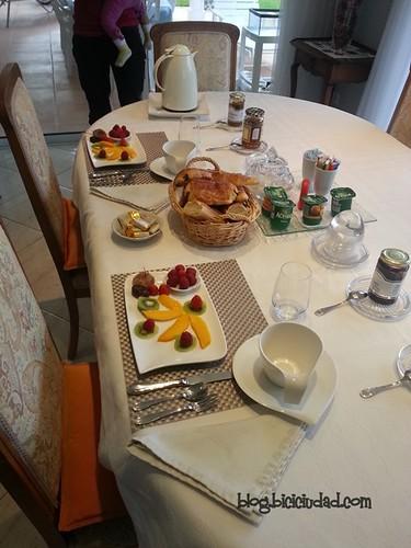 Desayuno en Bed & Breakfast Claro de Luna