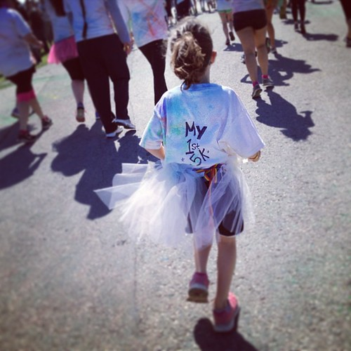 I am SO proud of my Kenniston. She did so well today. This was her 1st 5k and I hope it wasn't her last!