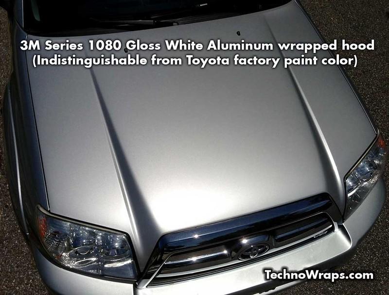 3M White Aluminum hood wrap