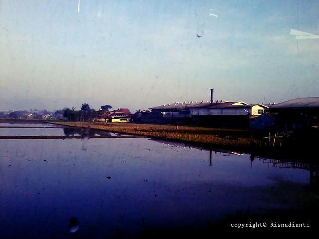 View Perjalan Menuju Sukabumi dari Bus