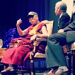 His Holiness the 14th Dalai Lama, Tenzin Gyatso in his Tulane visor #commencement #onlyattulane #tulane