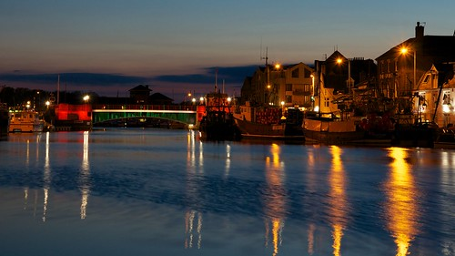 night dusk weymouthharbour project365 2013 townbridge